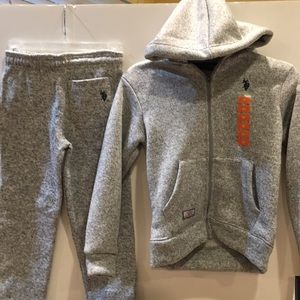 U.S. Polo Assn. Fleece lined Sweatsuit NWT 😎